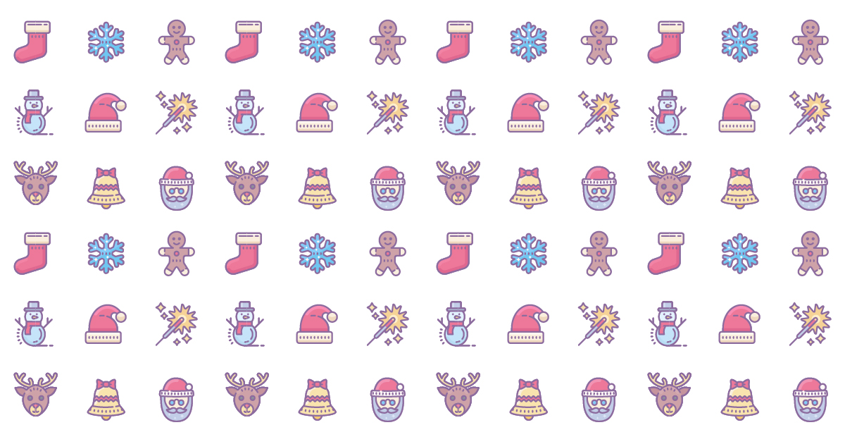 how to create christmas pattern
