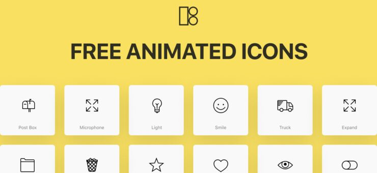 Design Tools: 200 Free Animated Icons for Web and Mobile UI