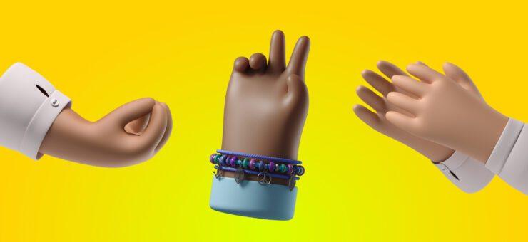 3D Hands: Get Diversity of Gestures in Stylish 3D Graphics