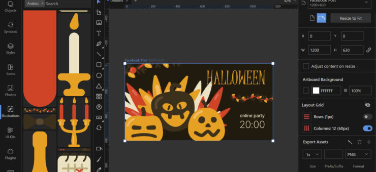 How to Make a Halloween Banner in Lunacy: Step by Step