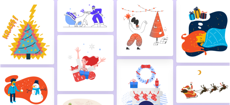 Merry Christmas Illustrations: Get 400+ Holiday Graphics