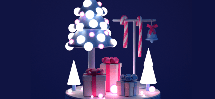 Christmas Magic: Icons, Illustrations, and Animations on Winter Holidays