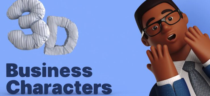 3D business characters: vibrant and detailed 3D people to make your work pop!