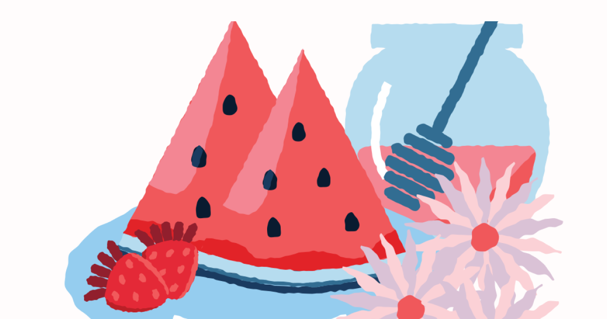 Sunkissed: a collection of refreshing summer illustrations: Summer desert free illustration in Cherry style