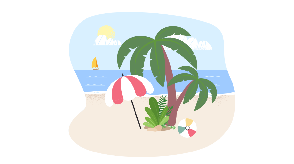 Sunkissed: a collection of refreshing summer illustrations: Dream island in Fogg style