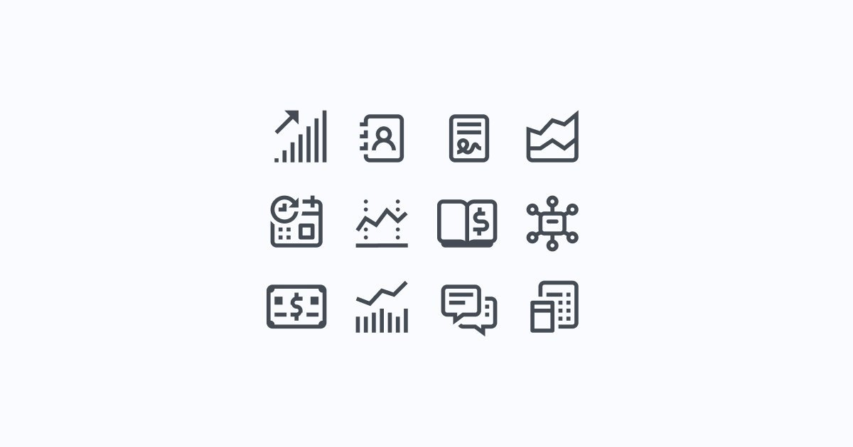 DIY UX audit: how to conduct one on your website to improve user experience: Minimalistic business icon pack in Simple Small style