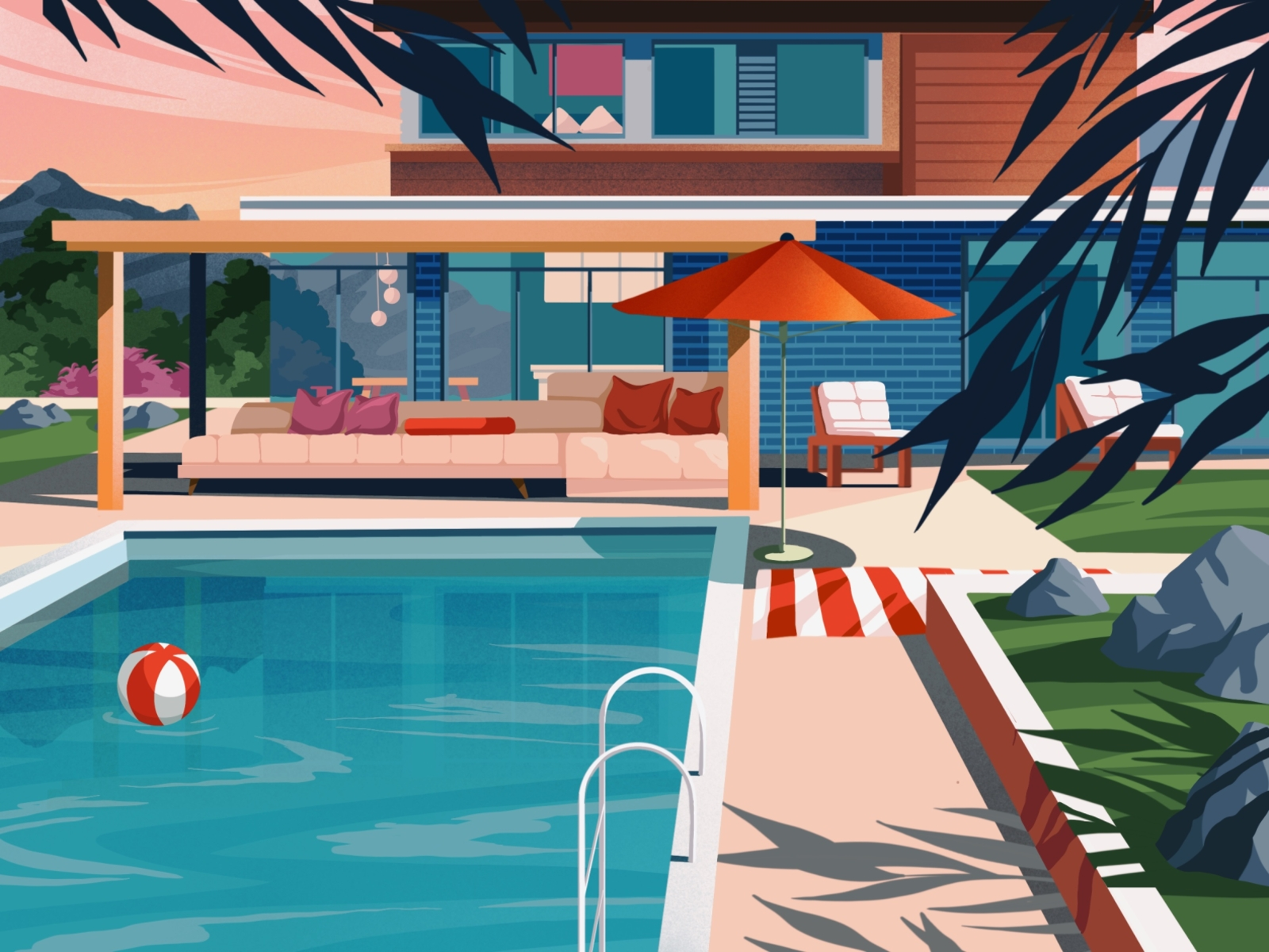 Sunkissed: a collection of refreshing summer illustrations: Pool by Helen Lee