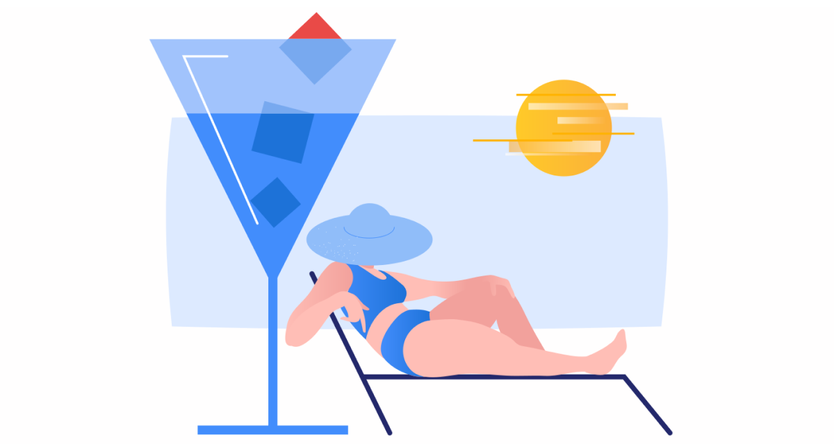 Sunkissed: a collection of refreshing summer illustrations:Summer chilling in Clip style