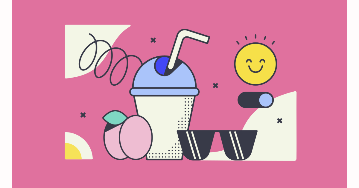 Sunkissed: a collection of refreshing summer illustrations: Summer drinks in Abstract style