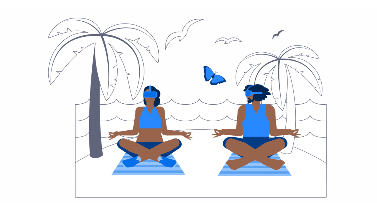 Sunkissed: a collection of refreshing summer illustrations: VR Yoga in Urban style