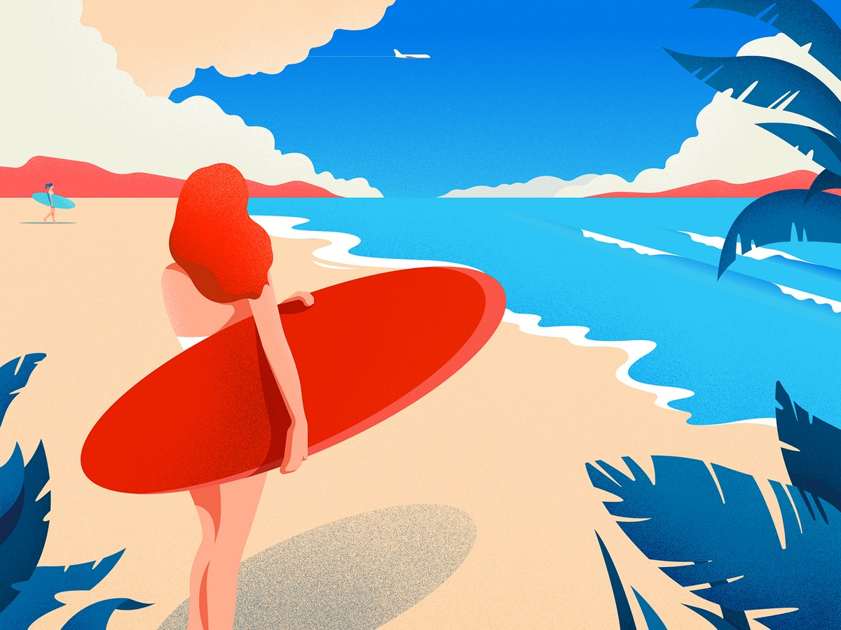 Sunkissed: a collection of refreshing summer illustrations: Vacation station by Lana Marandina