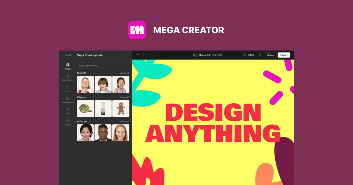 Mega Creator: a new player in DIY graphic design