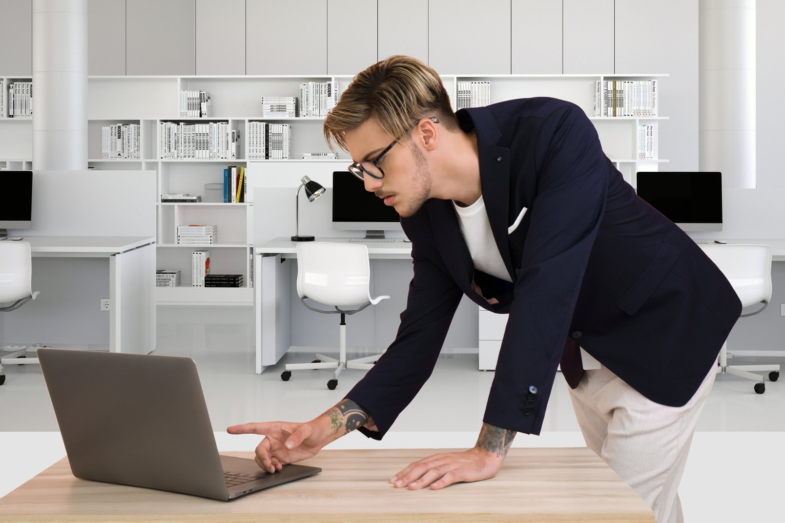 DIY UX audit: how to conduct one on your website to improve user experience: Man working on a laptop