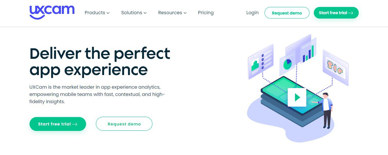 DIY UX audit: how to conduct one on your website to improve user experience: UXCam main page