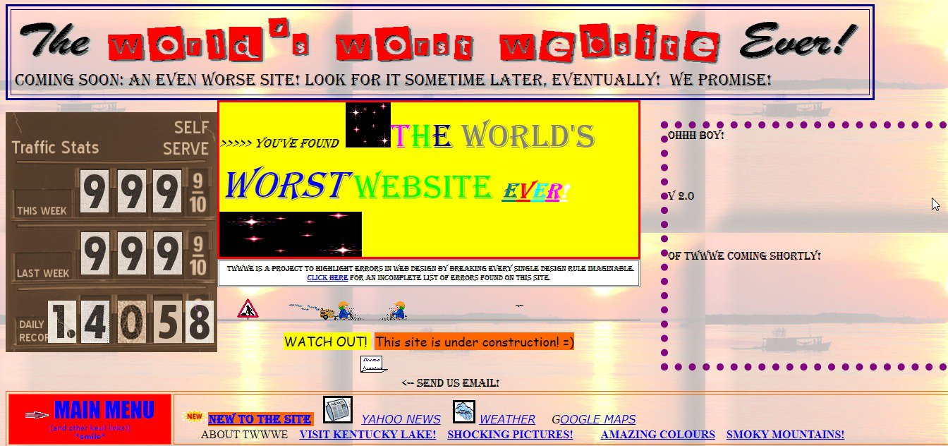 DIY UX audit: how to conduct one on your website to improve user experience: A view of the world's worst site ever