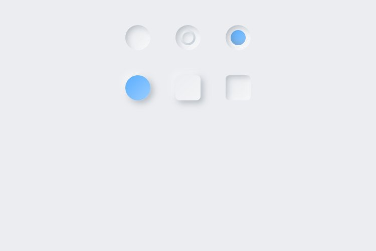 Lunacy tutorial: Neumorphism in UI design: Blue Inner Shadow