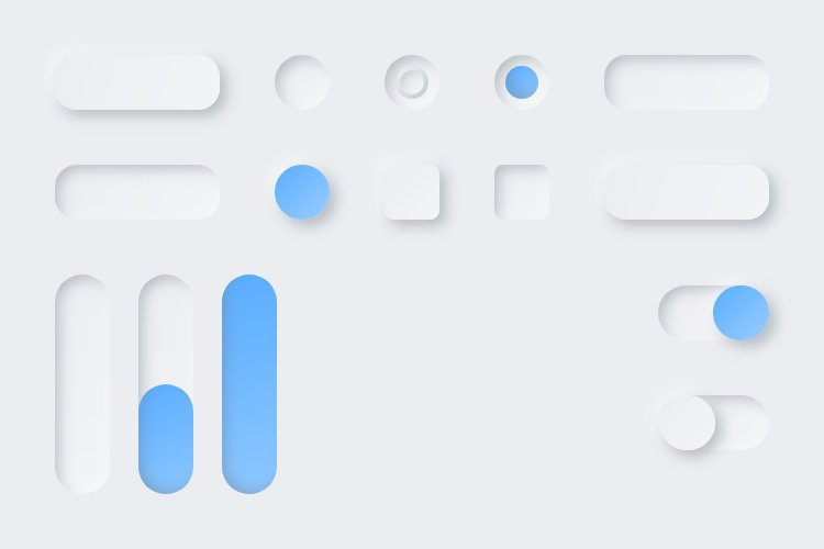 Lunacy tutorial: Neumorphism in UI design: Creating a slider-2