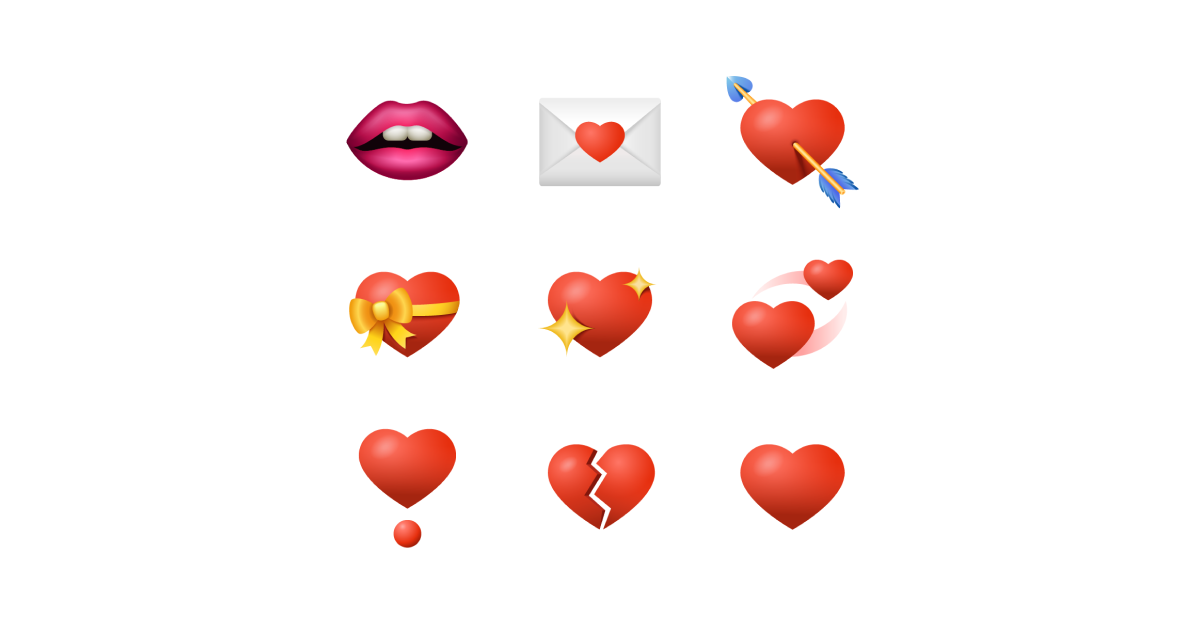 Sharing emotions: World Emoji Day graphic collection: Emoji set on white background
