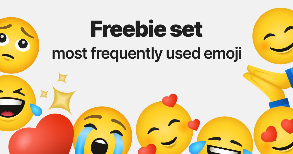 Sharing emotions: World Emoji Day graphic collection: Freedie Emoji set on light grey background