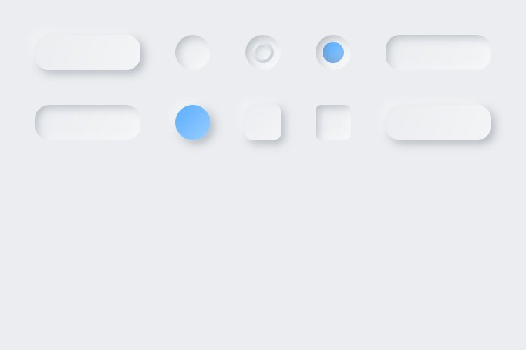 Lunacy tutorial: Neumorphism in UI design: Some more buttons and fields-2