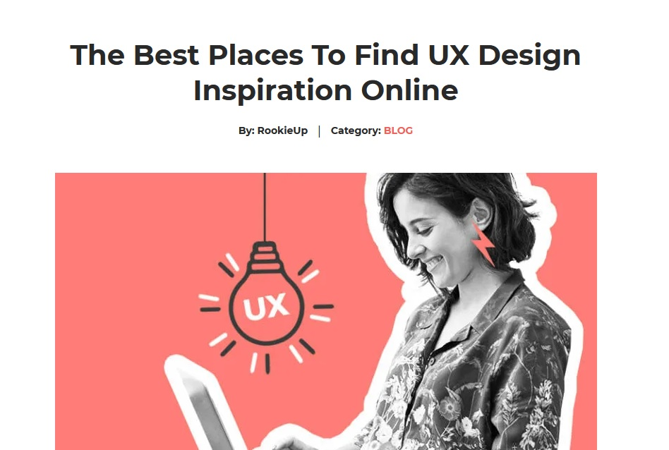 """What SEO metrics a UX designer should focus on: An article titled """"the best places to find UX design inspiration online."""""""